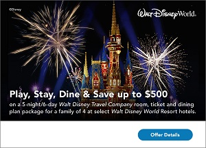 Play, Stay, Dine & Save up to $500