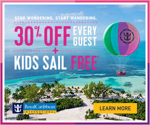 Royal Caribbean International  30% Off Every Guest plus Kids Sail Free