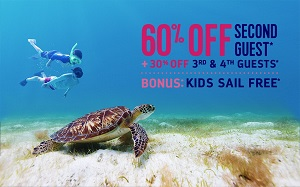 Royal Caribbean International®  60% Off Second Guest + 30% of 3rd and 4th Guests and Kids Sail Free