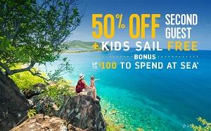 Royal Caribbean International® 50% Off Second Guest + Kids Sail Free plus early booking bonus